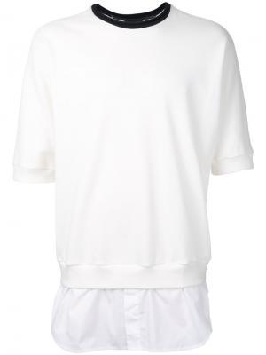 Многослойная футболка 3.1 Phillip Lim. Цвет: белый