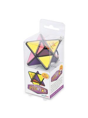 Брелок головоломка Мини-Звезда Хаоса. Meffert's. Цвет: фиолетовый, желтый, розовый