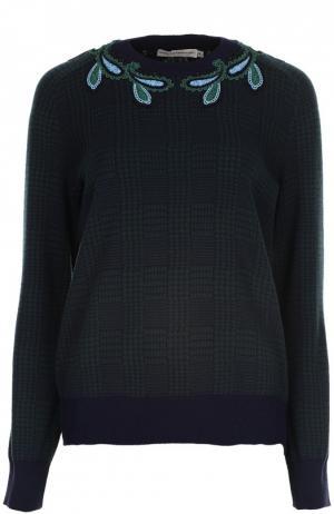 Вязаный пуловер Mary Katrantzou. Цвет: зеленый