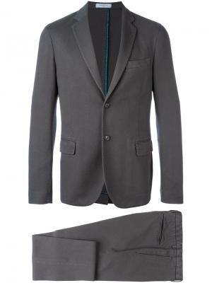 Классический костюм Boglioli. Цвет: серый