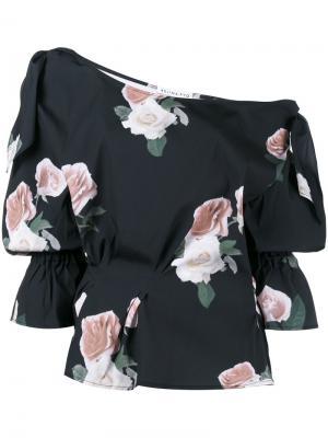 Floral Print Off-Shoulder Blouse Rejina Pyo. Цвет: синий