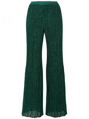 Трикотажные брюки с люрексом Missoni. Цвет: зелёный