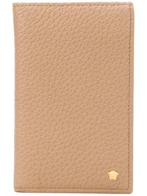 Классический бумажник Medusa Versace. Цвет: телесный