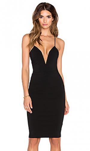 Платье миди sass RISE OF DAWN. Цвет: черный