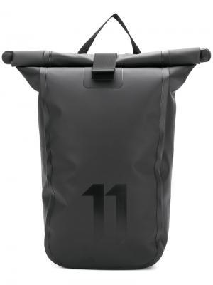 Рюкзак с клапаном заворотом 11 By Boris Bidjan Saberi. Цвет: чёрный