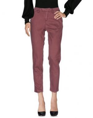 Повседневные брюки HAIKURE. Цвет: красно-коричневый
