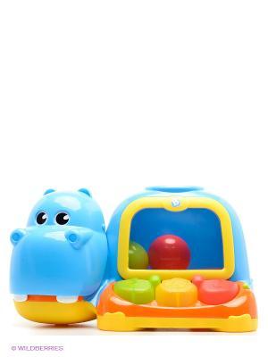 Активная игрушка Бегемот с шарами BKIDS. Цвет: салатовый, голубой, красный