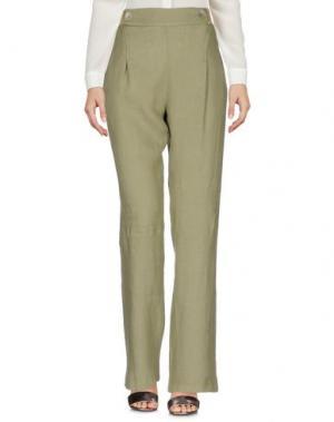 Повседневные брюки LA FABBRICA del LINO. Цвет: зеленый-милитари