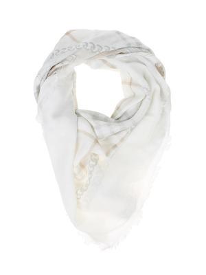 Платок Migura. Цвет: белый, бежевый, серый