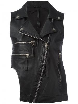 Байкерская куртка без рукавов Barbara I Gongini. Цвет: чёрный