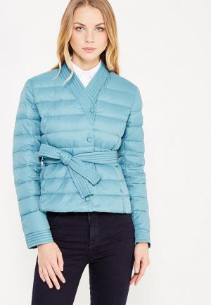Пуховик Armani Jeans. Цвет: бирюзовый