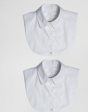 ASOS Набор из 2 воротников. Цвет: белый