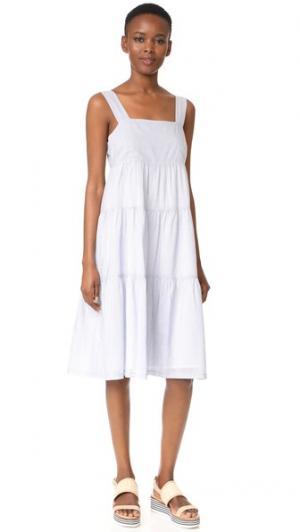 Миди-платье в полоску Madewell. Цвет: мягкий сумеречный
