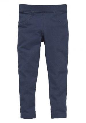 , леггинсы с джинсовым эффектом, для девочек CFL. Цвет: синий