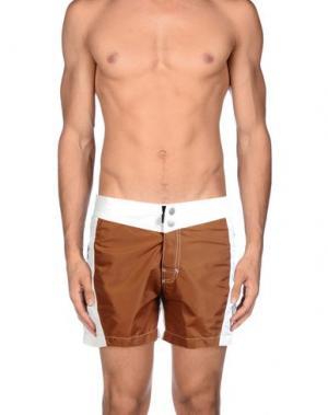Шорты для плавания RRD. Цвет: коричневый