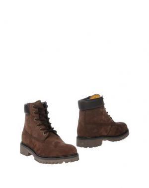 Полусапоги и высокие ботинки WEST COAST. Цвет: темно-коричневый
