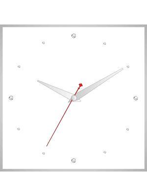 Часы в алюминиевой рамке со стразами 400*400мм ДСТ. Цвет: белый