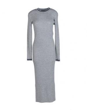Платье длиной 3/4 AMERICAN RETRO. Цвет: серый