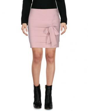 Мини-юбка LIST. Цвет: розовый