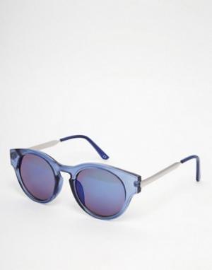 Trip Круглые солнцезащитные очки. Цвет: синий
