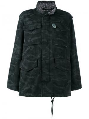 Камуфляжная объемная куртка Marc Jacobs. Цвет: чёрный