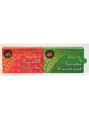 Набор натуральное мыло крымский можжевельник+пряности Крымская Натуральная Коллекция. Цвет: белый