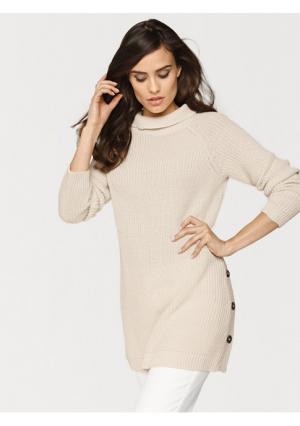 Пуловер B.C. BEST CONNECTIONS by Heine. Цвет: бордовый, оливковый, серо-коричневый, серый меланжевый, синий, экрю