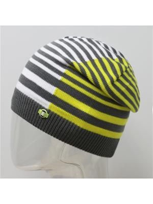 Шапка ELFRIO. Цвет: темно-серый, желтый