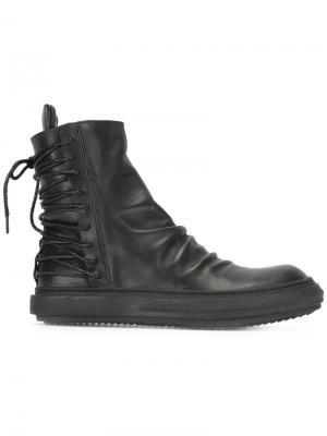 Ботинки со шнуровкой сзади D.Gnak. Цвет: чёрный