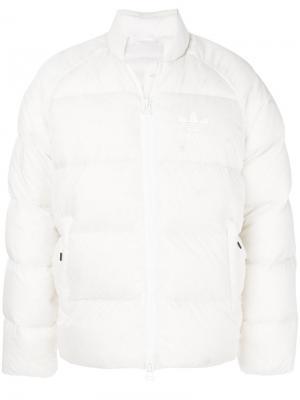 Куртка-пуховик  Originals SST Pure Adidas. Цвет: белый