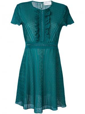 Платье с рюшами Zuhair Murad. Цвет: зелёный