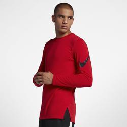 Мужская баскетбольная футболка с длинным рукавом  Breathe Elite Nike. Цвет: красный