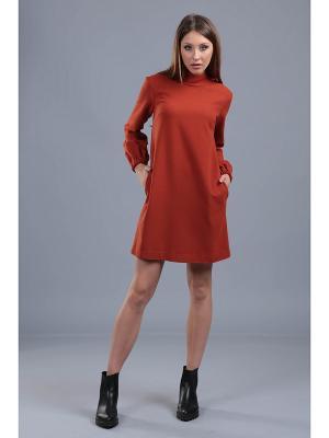 Платье ЭНСО. Цвет: терракотовый