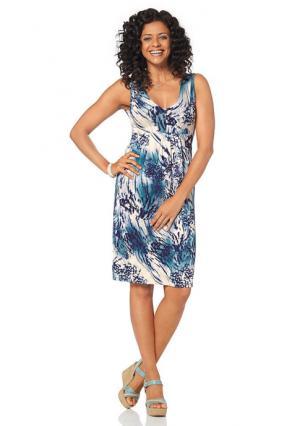 Платье BOYSENS BOYSEN'S. Цвет: синий/белый