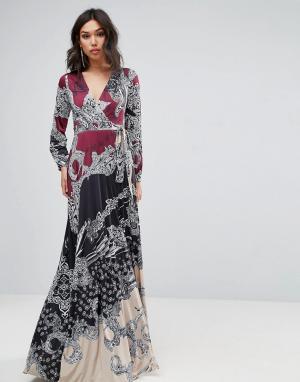 Forever Unique Платье макси с принтом. Цвет: мульти