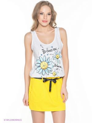 Платье PELICAN. Цвет: белый, желтый