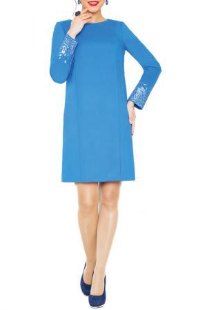 Платье E.LEVY. Цвет: голубой