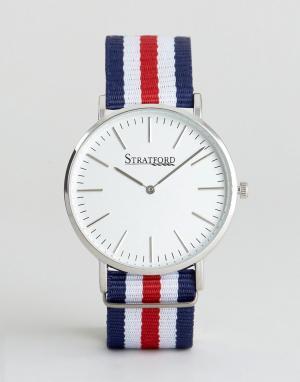Stratford Наручные часы с парусиновым ремешком. Цвет: мульти