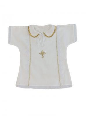 Крестильная рубашка Дашенька. Цвет: белый, золотистый