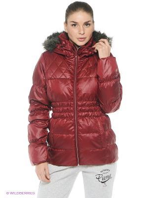 Куртка STYLE Down Jacket Puma. Цвет: бордовый