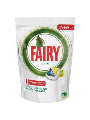 Капсулы для посудомоечной машины Original All In One Лимон (48 штук) Fairy. Цвет: белый