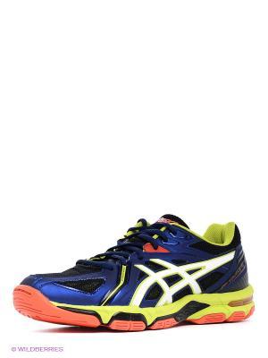 Волейбольные кроссовки Gel-Volley Elite 3 ASICS. Цвет: синий, зеленый, белый
