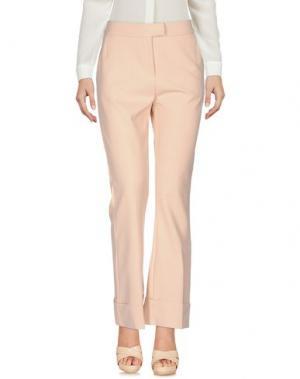 Повседневные брюки MEM.JS. Цвет: телесный