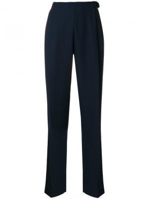 Прямые брюки Carven. Цвет: синий