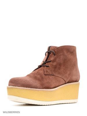 Ботинки LOGAN. Цвет: коричневый