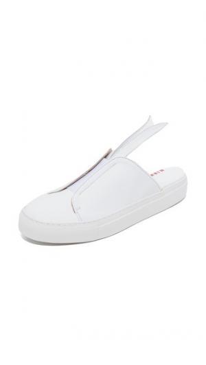 Кроссовки без шнурков Bunny Minna Parikka. Цвет: белый