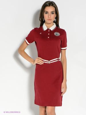 Платье BOSCO. Цвет: бордовый