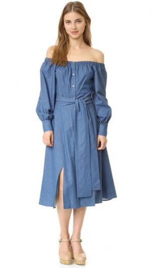 Платье Leandra Elle Sasson. Цвет: голубой