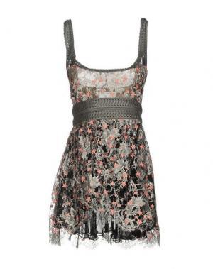Короткое платье KRISTIAN AADNEVIK. Цвет: свинцово-серый