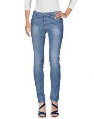 Джинсовые брюки DANIELE ALESSANDRINI. Цвет: синий